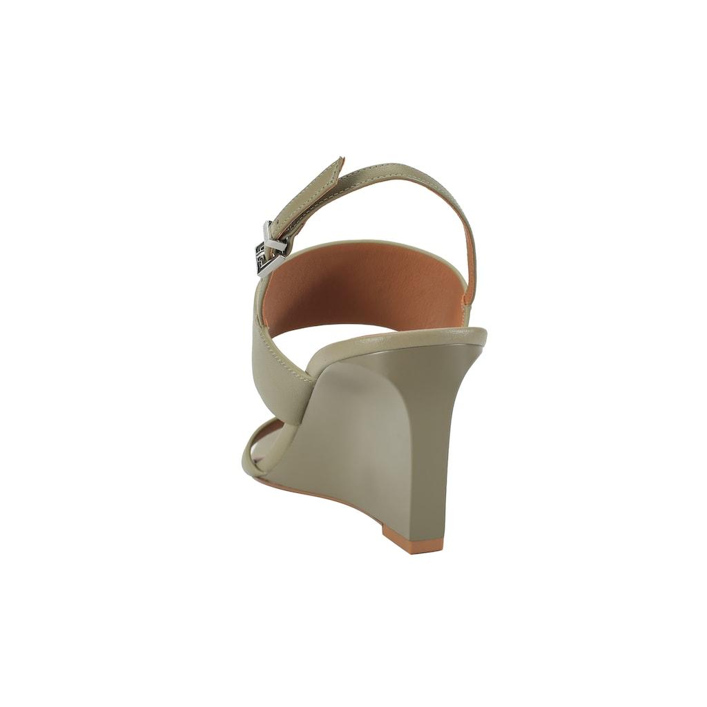 ekonika Sandale, mit trendigem Keilabsatz