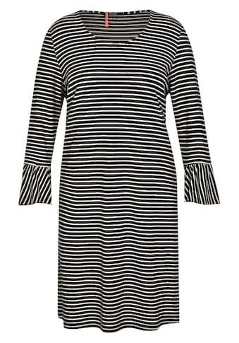 FRAPP Charmantes Ringel - Kleid mit Volants kaufen