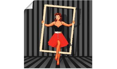 Artland Wandbild »Bildschön gerahmt«, Frau, (1 St.), in vielen Größen & Produktarten - Alubild / Outdoorbild für den Außenbereich, Leinwandbild, Poster, Wandaufkleber / Wandtattoo auch für Badezimmer geeignet kaufen