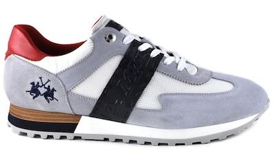 La Martina Sneaker »Made in Italy«, mit Kontrastbesatz an der Ferse kaufen