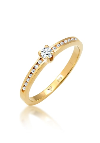 Diamore Diamantring »Verlobungsring Diamant (0.18 ct.) 585 Gelbgold« kaufen