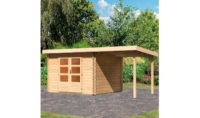 WOODFEELING Set: Gartenhaus »Bastrup 5«, BxT: 515x333 cm, mit Anbaudach kaufen