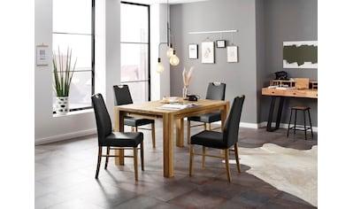 Home affaire Essgruppe »Nils«, (Set, 5 tlg., Tisch 140/90 cm, 4 Polster-Stühle), aus Massivholz kaufen