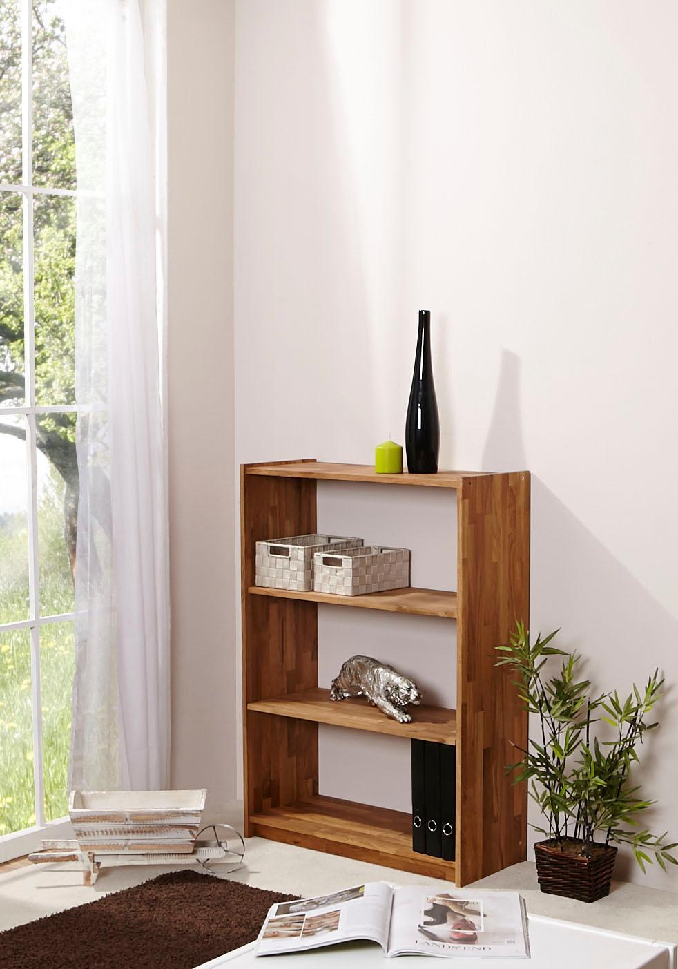 Ticaa Standregal in 4 Höhen von 111 - 214 cm Eiche | Kinderzimmer > Kinderzimmerregale | Braun | Ticaa
