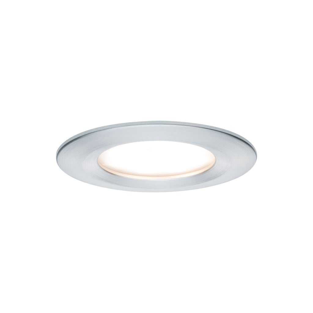 Paulmann LED Einbaustrahler »starr Nova rund Alu gedreht 3x6,5W 3-Stufen-dimmbar«, 3 St., Warmweiß
