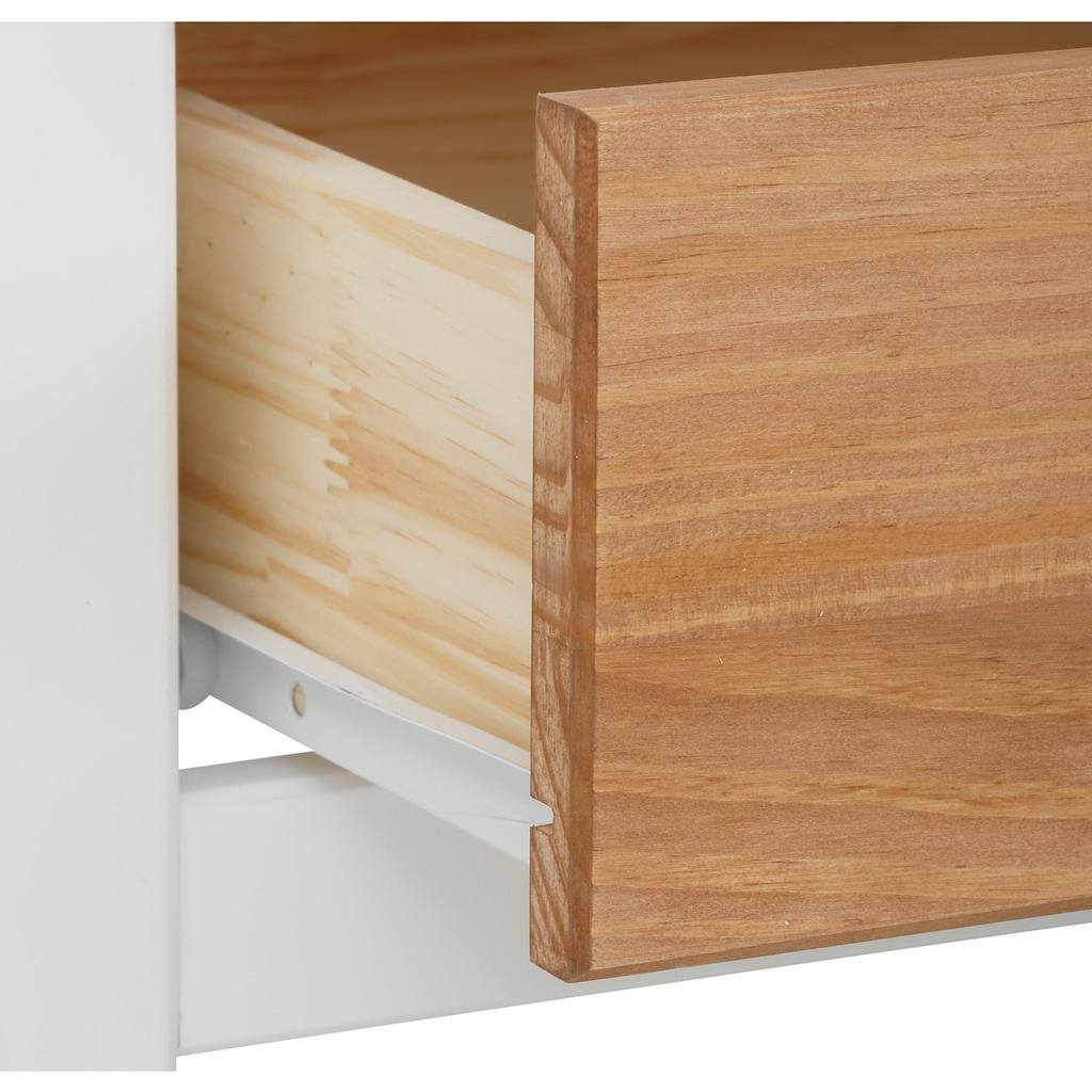 Home affaire Couchtisch »Fridau«, aus massivem Kiefernholz, mit gedrehten Füßen, Breite 110 cm