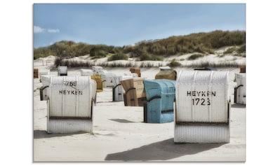 Artland Glasbild »Ein Tag am Meer«, Strand, (1 St.) kaufen