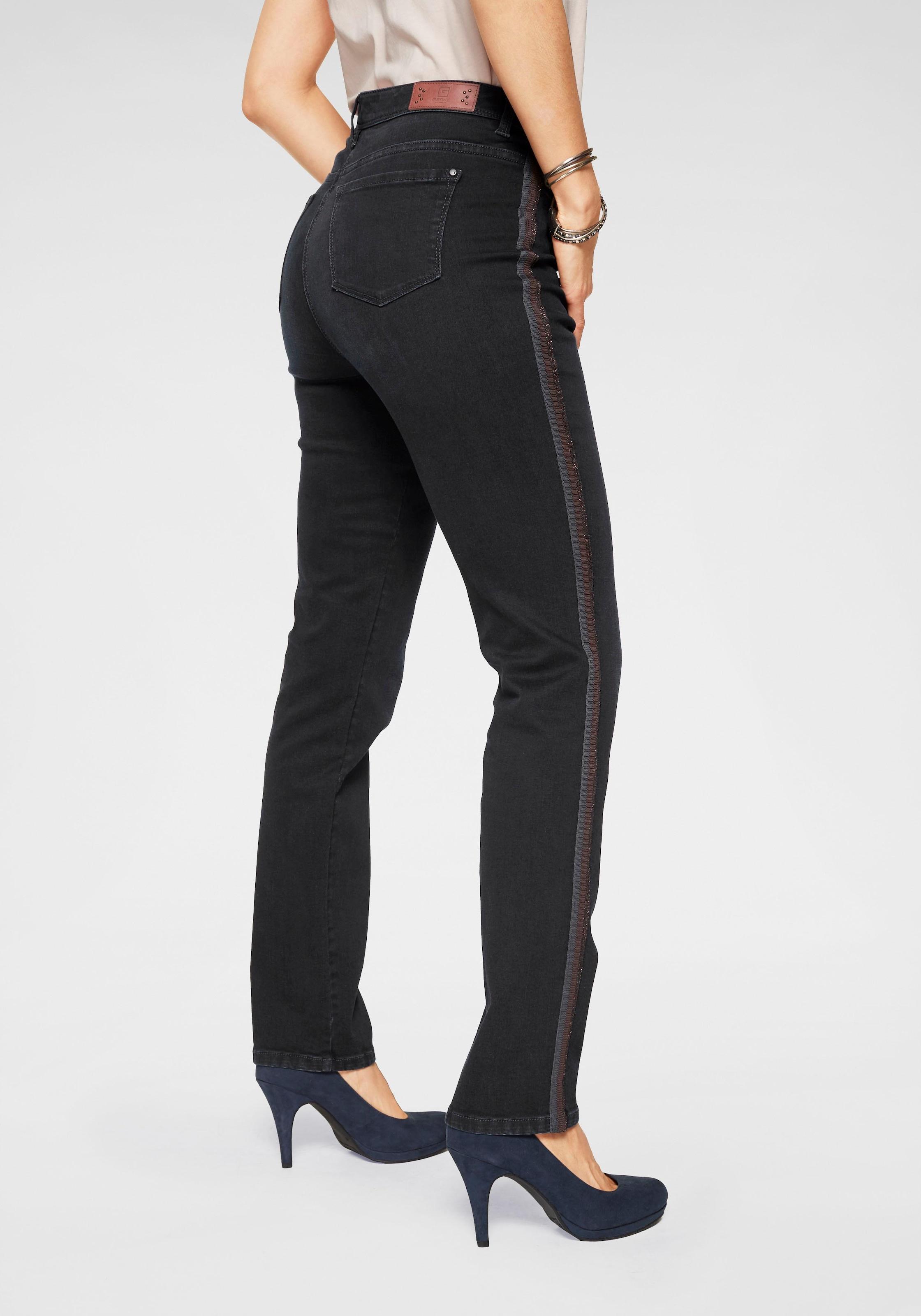 Queen Mum Umstandsmode Slim Umstandsjeans Rose 5-Pocket-Hose