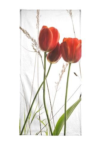 """Handtuch """"Flora  -  Tulpe"""", Juniqe kaufen"""