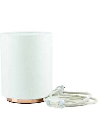 SEGULA Tischleuchte »Tischlampe - Kupfer-Weiß, 2m Baumwollkabel mit Schalter«, E27,... kaufen