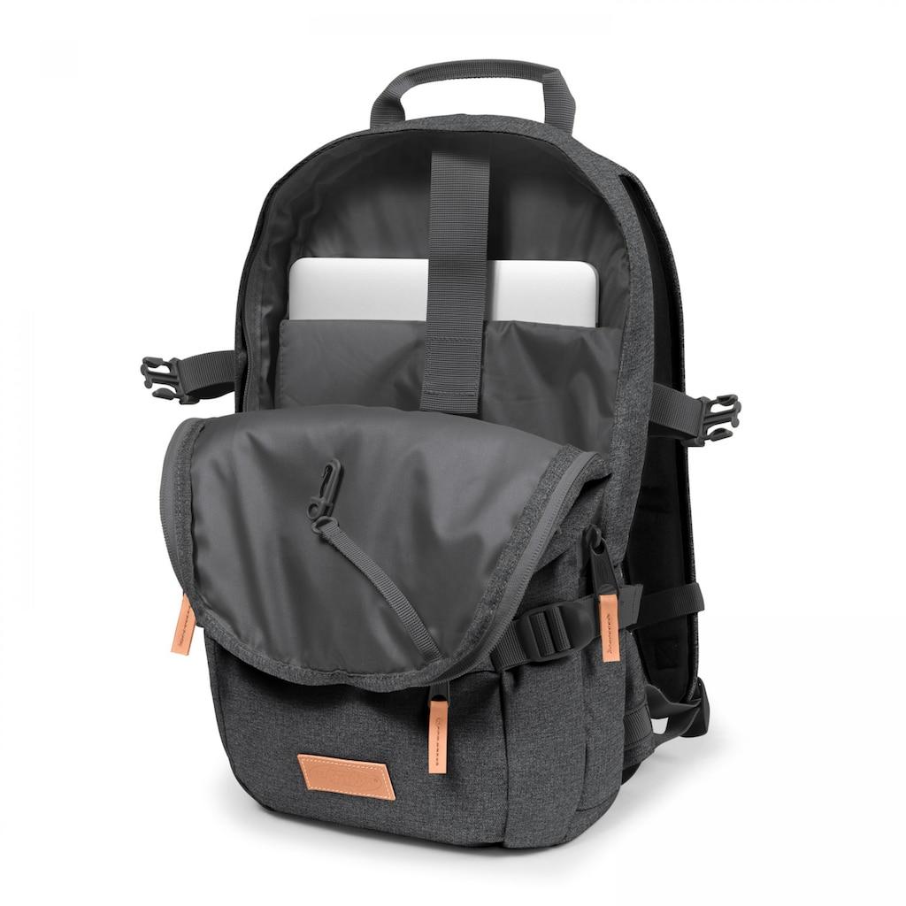 Eastpak Laptoprucksack »FLOID, Black Denim«, enthält recyceltes Material (Global Recycled Standard)