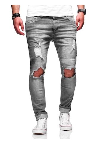 behype Slim-fit-Jeans »J-5118«, mit trendigen Destroyed-Elementen kaufen