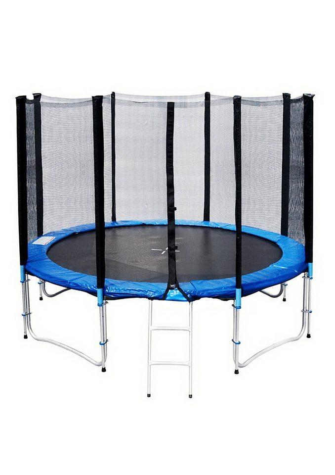 Joka Fit Gartentrampolin Trampolin-Set, Ø 305 cm, (Set, mit Sicherheitsnetz) blau Fitness Ausrüstung Sportarten Trampolin