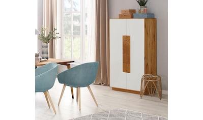 WHITEOAK GROUP Highboard »Lanzo«, aus massivem Eichenholz in hochwertiger Verarbeitung kaufen
