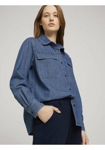 TOM TAILOR Denim Langarmbluse »Hemdbluse aus Jeans« kaufen