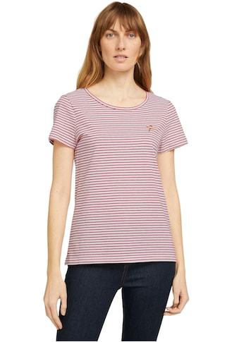 TOM TAILOR Print-Shirt, aus Bio-Baumwolle kaufen