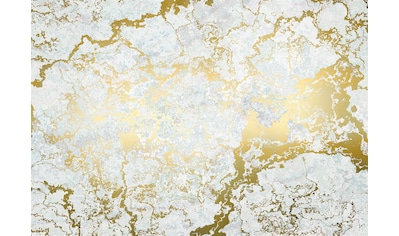 Komar Fototapete »Marbelous«, Steinoptik-schimmernd-Gold-Optik kaufen