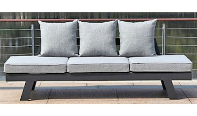 GARDEN PLEASURE Loungesofa »DONNA«, 7 - tlg., Aluminium, anthrazit, inkl. Auflagen und Kissen kaufen