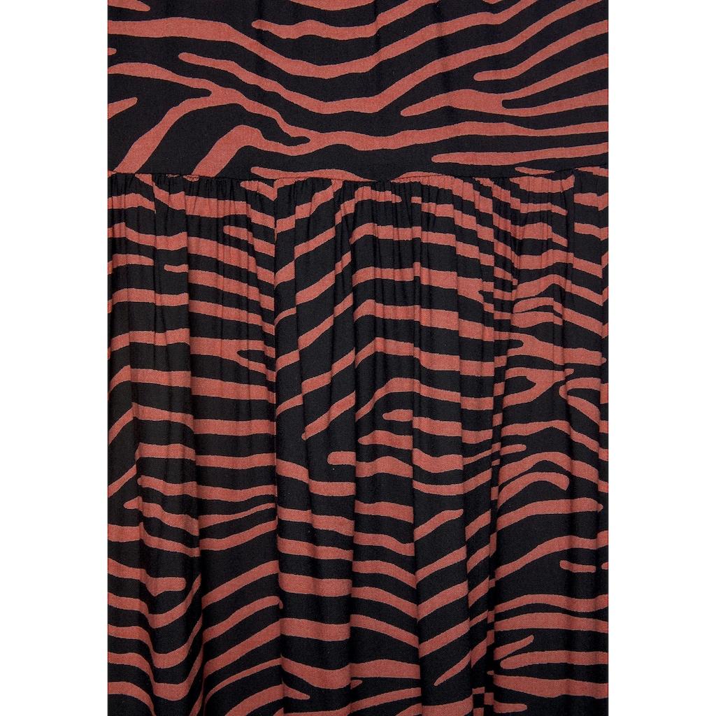 LASCANA Maxirock, aus gewebter Viskose