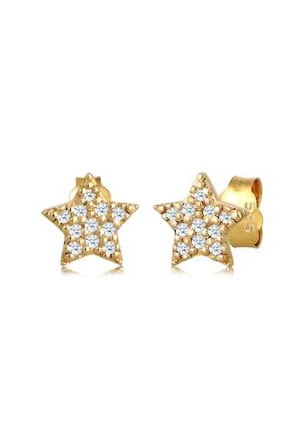 Diamore Paar Ohrstecker »Sterne Astro Trend Diamant (0,22 ct.) 585 Gelbgold« kaufen