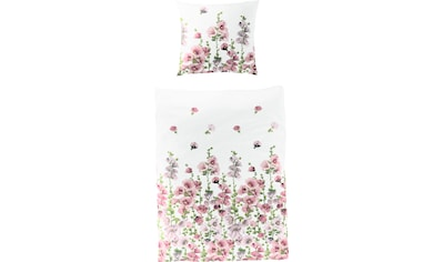 BIERBAUM Bettwäsche »Flowers Ranke«, mit Stockrosen kaufen