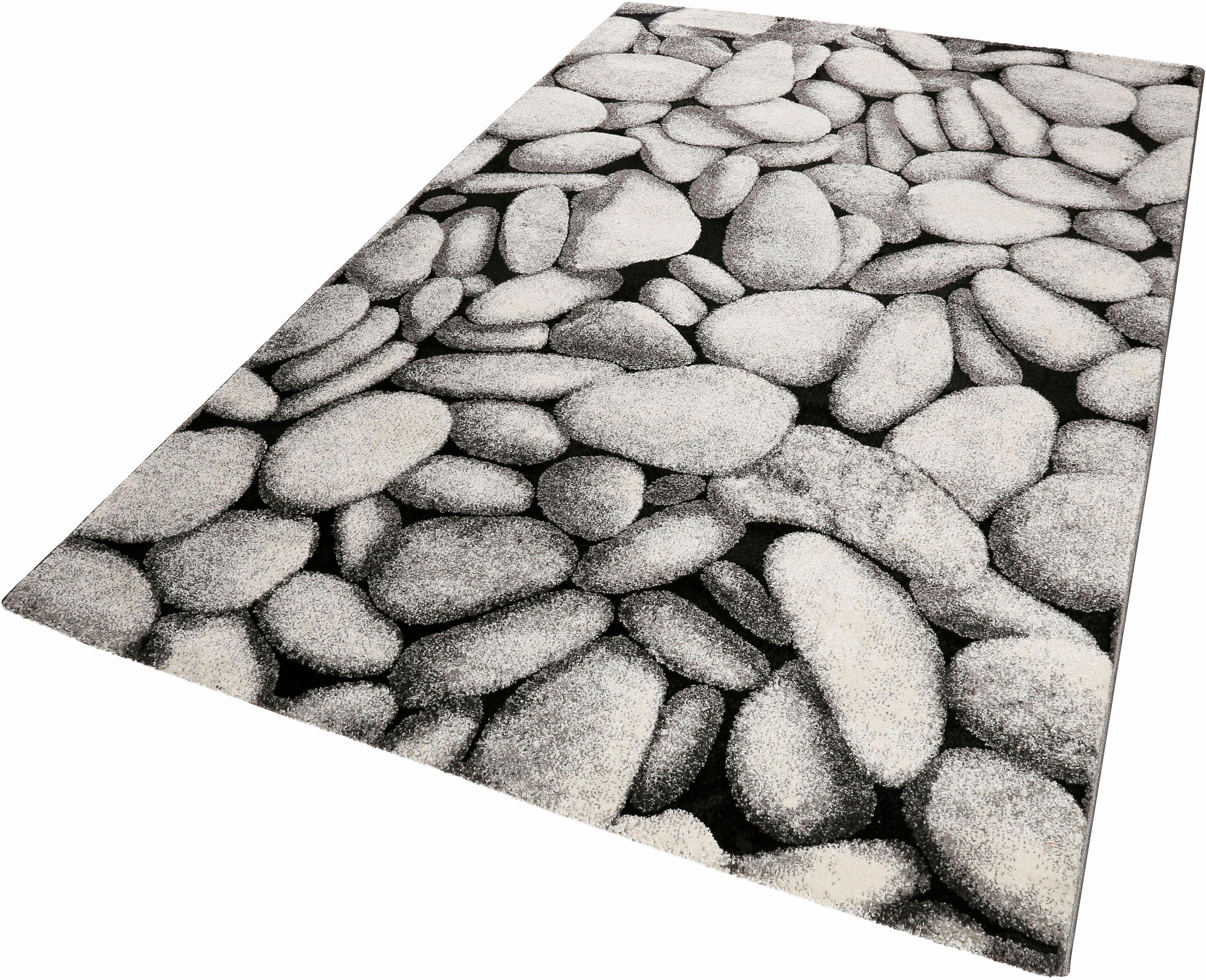 Teppich Stony Island Wecon Home rechteckig Höhe 13 mm maschinell gewebt