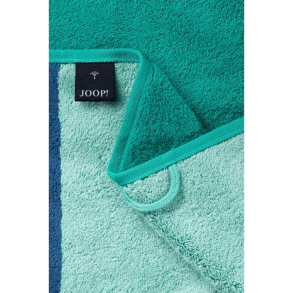 Joop! Duschtuch »FRAME CONTOUR«, (1 St.), mit farblich abgesetzten Seiten