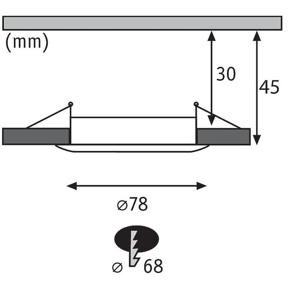 Paulmann LED Einbaustrahler »Nova rund 1x6,5W Eisen gebürstet starr 3-Stufen-dimmbar«, Warmweiß