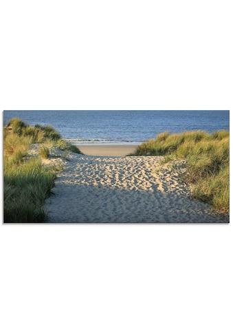 Artland Glasbild »Strandaufgang«, Strand, (1 St.) kaufen