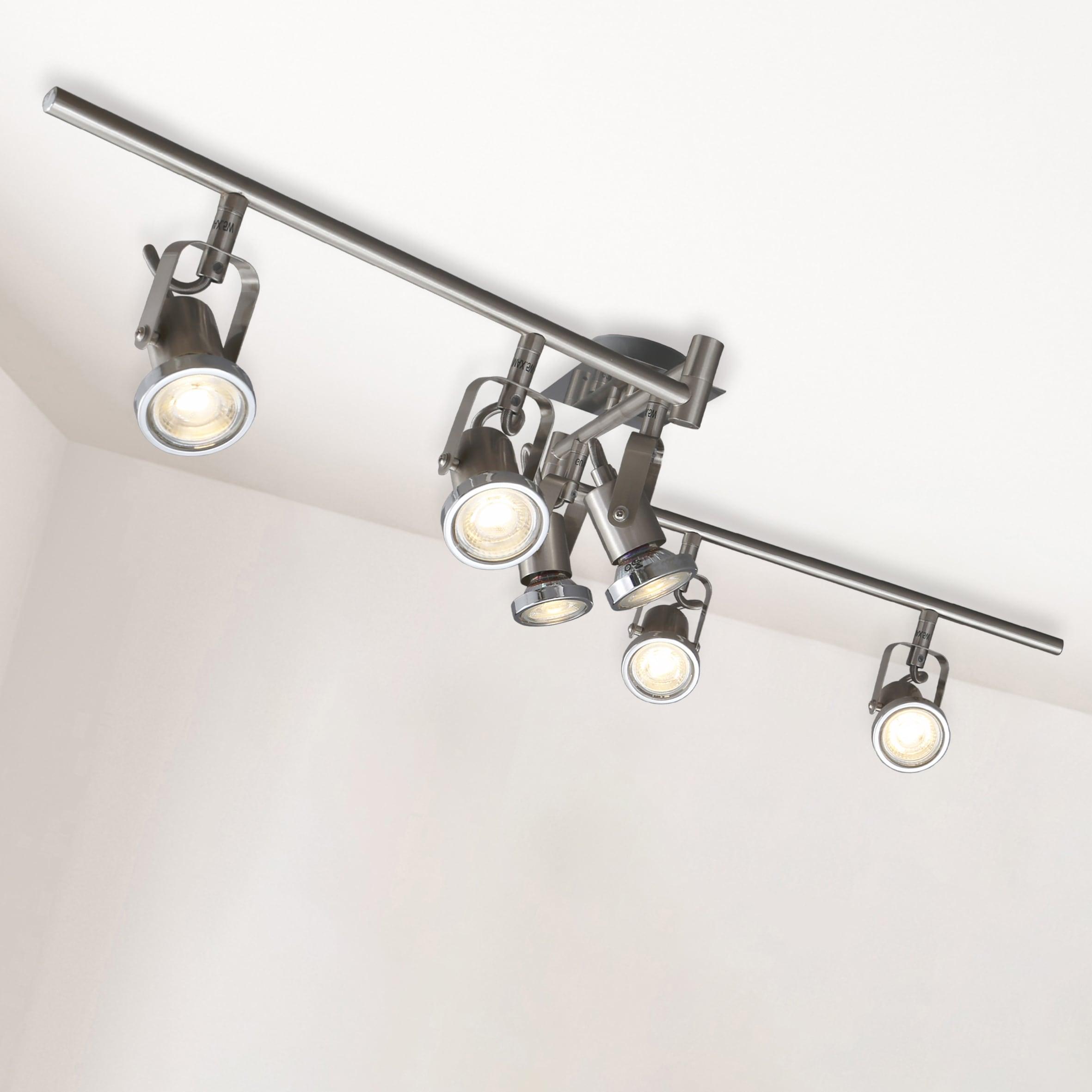 B.K.Licht LED Deckenspots Phönix 6, GU10, Warmweiß, LED Deckenstrahler Deckenleuchte Lampe modern Spot-Leuchte Spotlights inkl.5W 400lm