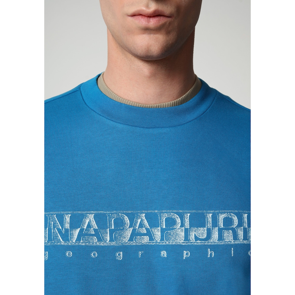 Napapijri Sweatshirt, mit großem Logofrontprint