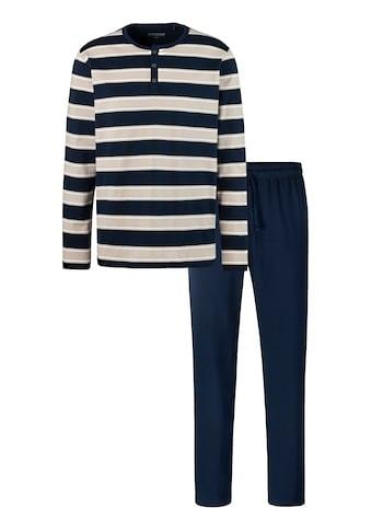 Schiesser Pyjama, mit Blockstreifen kaufen