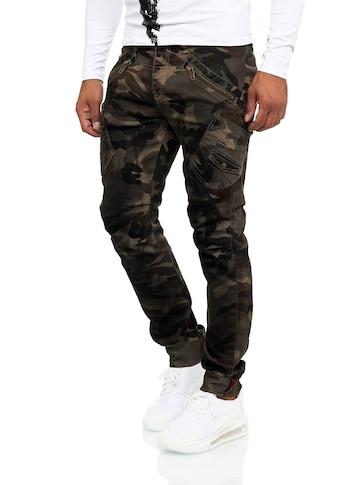 KINGZ Bequeme Jeans, mit ausgefallenen Akzenten kaufen