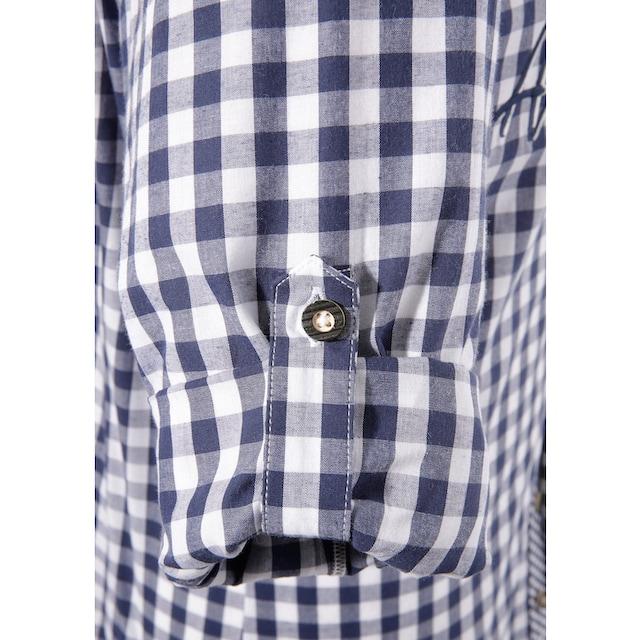 Marjo Trachtenhemd mit Aufdruck und Applikation