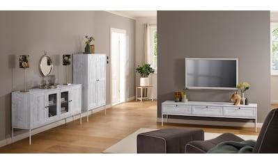 Home affaire Sideboard »Freya«, mit 2 Holztüren und 2 Glastüren, Metallgriffen, aus... kaufen