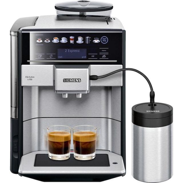 SIEMENS Kaffeevollautomat EQ.6 plus s700 TE657M03DE, 1,7l Tank, Scheibenmahlwerk