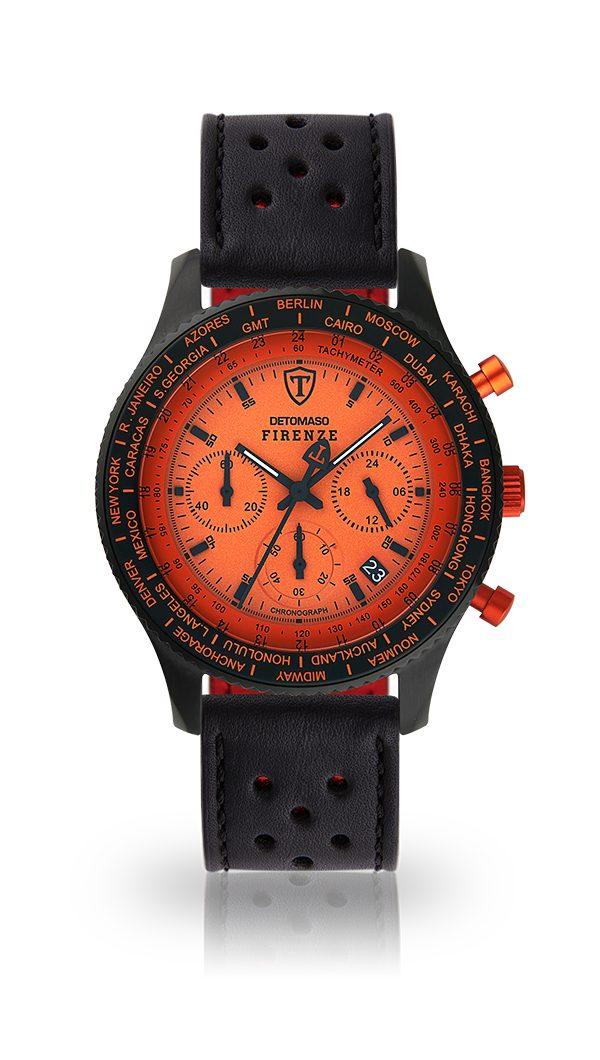 Detomaso Chronograph FIRENZE BLACK ORANGE | Uhren > Chronographen | Orange | Detomaso