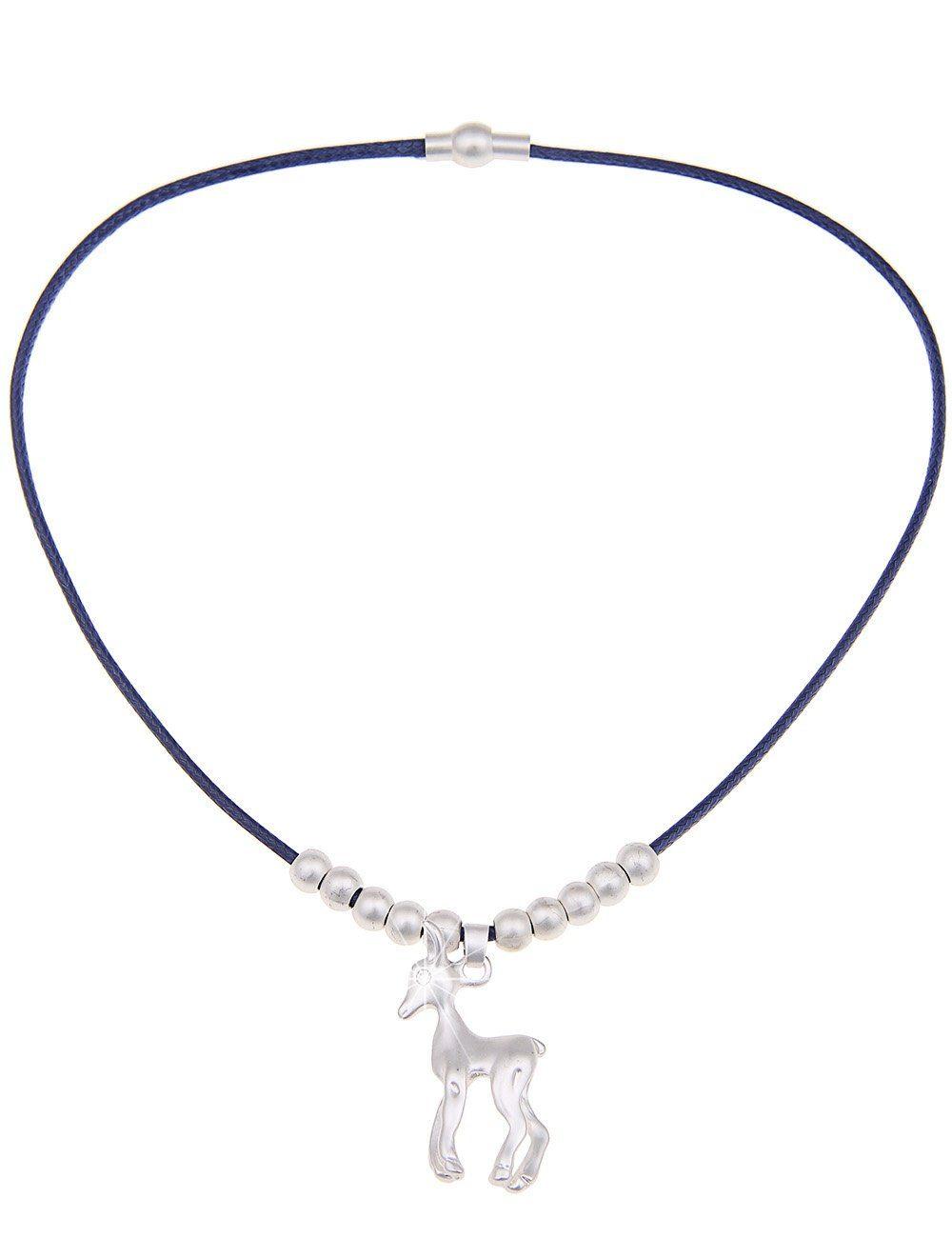 leslii Halskette mit Reh-Anhänger | Schmuck > Halsketten > Lange Ketten | Blau | Leslii