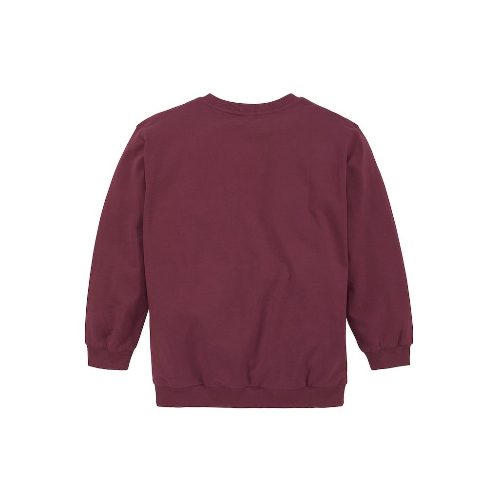 Bench. Sweatshirt, in sehr weiter Form mit Folien-Präge-Druck
