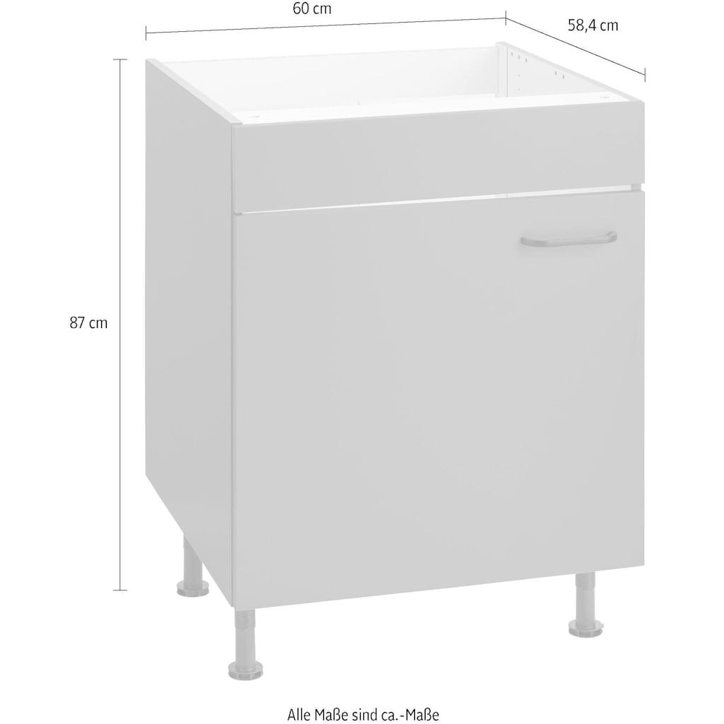 OPTIFIT Spülenschrank »Elga«, mit Soft-Close-Funktion, höhenverstellbaren Füßen und Metallgriff, Breite 60 cm