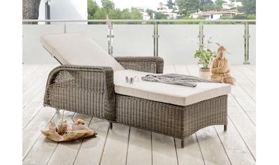 Destiny Gartenliege »Casa«, Polyrattan, verstellbar, inkl. Auflagen kaufen