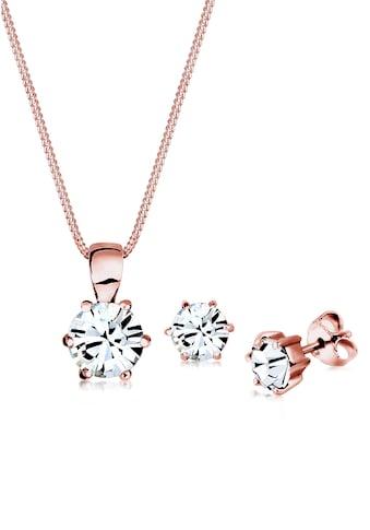 Elli Schmuckset »Set  Basic Swarovski® Kristalle Silber« (Set, 2 tlg abdfa33a76