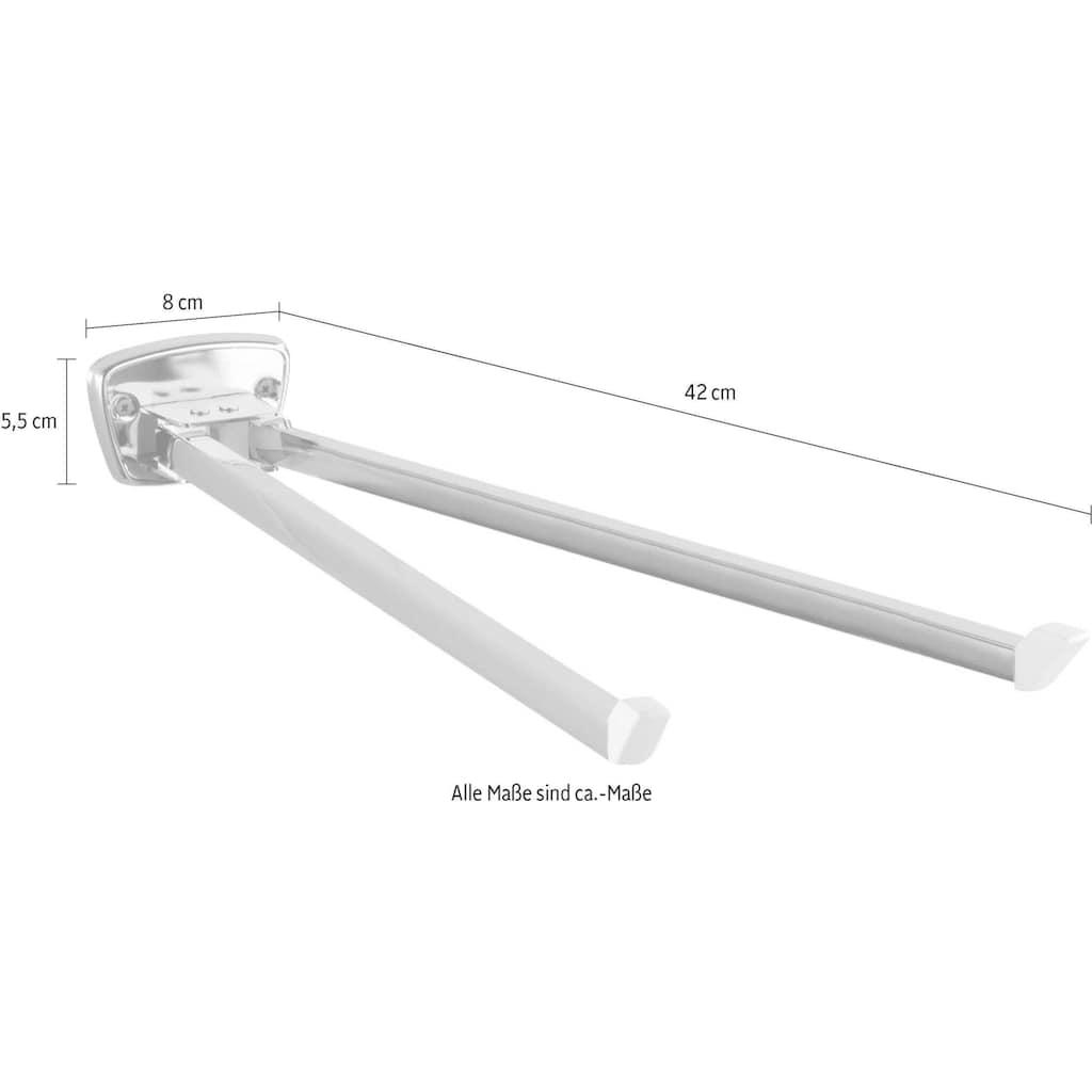 WENKO Handtuchhalter »Basic«, mit 2 Handtuchstangen