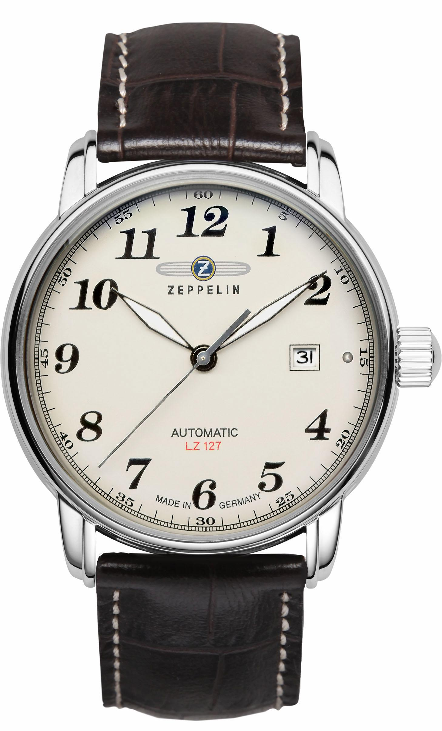 ZEPPELIN Automatikuhr »LZ127 Graf Zeppelin, 7656-5« | Uhren > Automatikuhren | Braun | ZEPPELIN