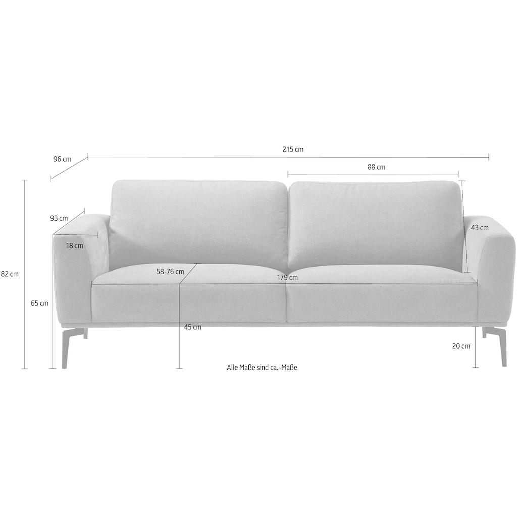 Places of Style 3-Sitzer »Odda«, 3-Sitzer mit Metallfüßen in besonderem Design
