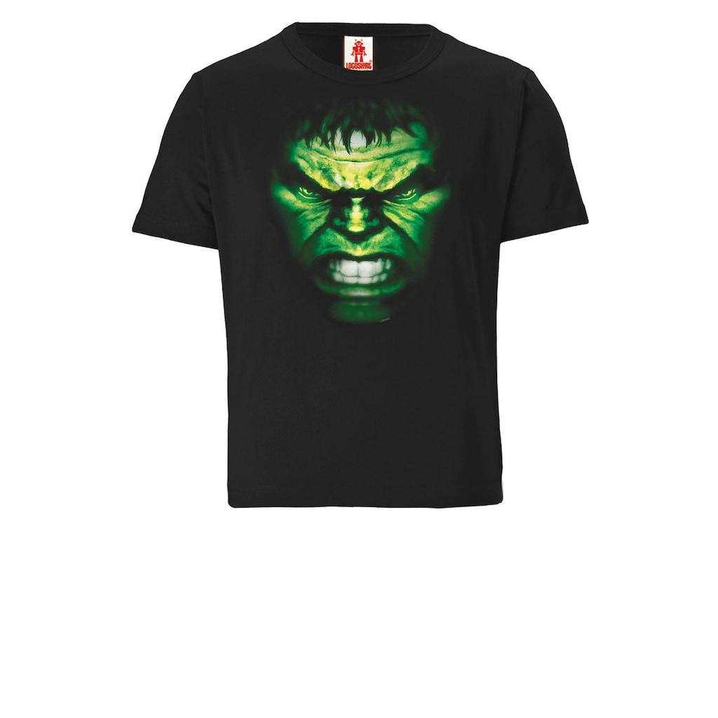 LOGOSHIRT T-Shirt »Hulk Face«, mit lässigem Vintage-Print