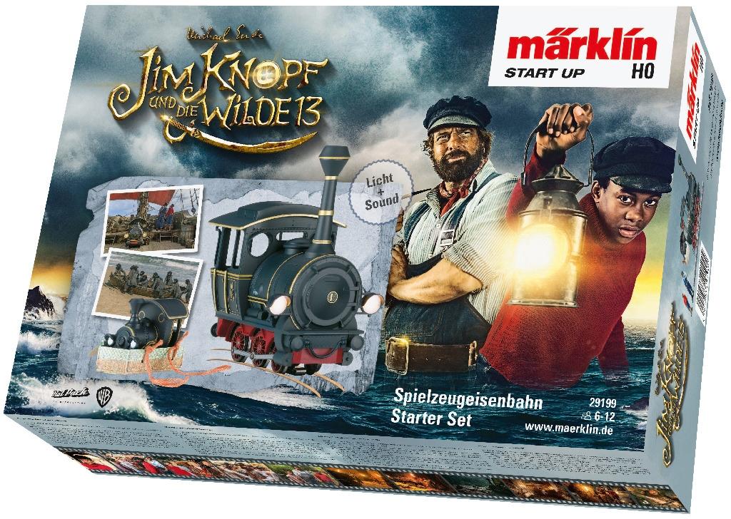 Märklin Modelleisenbahn-Set Start up - Startpackung Jim Knopf und die Wilde13 29199, für Einsteiger, Made in Europe schwarz Kinder Modelleisenbahn-Sets Modelleisenbahnen Autos, Eisenbahn Modellbau