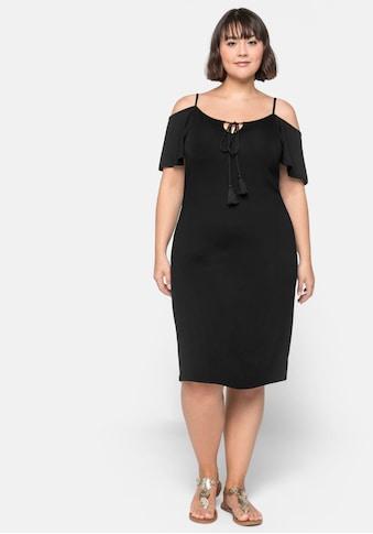 Sheego Jerseykleid, mit Flügelärmeln kaufen