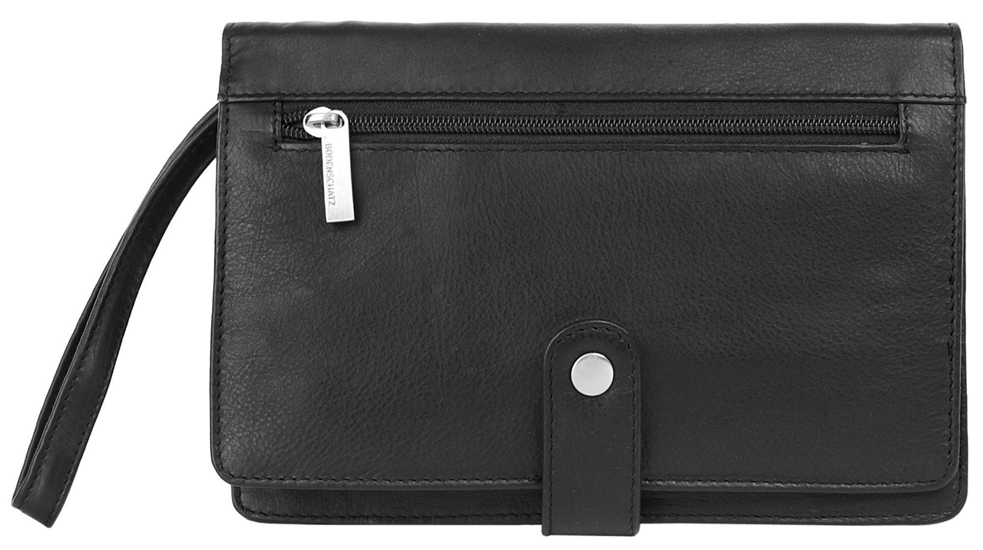BODENSCHATZ Handgelenktasche | Taschen > Handtaschen > Abendtaschen | Schwarz | Leder | Bodenschatz