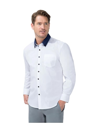 Marco Donati Langarm - Hemd mit kontrastfarbigen Schmuckknöpfen kaufen